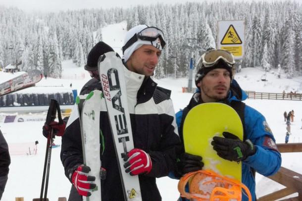 novak djokovic skijanje