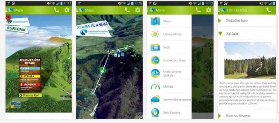"""Android aplikacija: """"Ski Serbia Summer"""""""