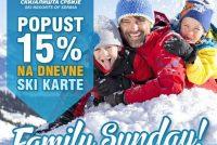 """Popust od 15% za """"Family Sunday"""" 18. februara"""