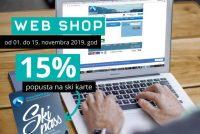 Popust na ski pass 15% preko web shopa od 1. do 15. novembra