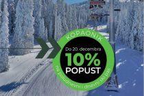 10% popusta na ski pass, otvorena žičara Pančić