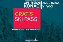 Akcija: Apartmani Konaci – gratis Ski Pass