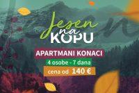 Kopaonik Konaci – 7 dana za 4 osobe 140 eur