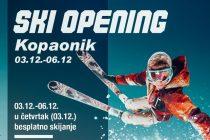 Ski opening – bezbedno skijanje, bez muzičkih i drugih zabavnih aktivnosti
